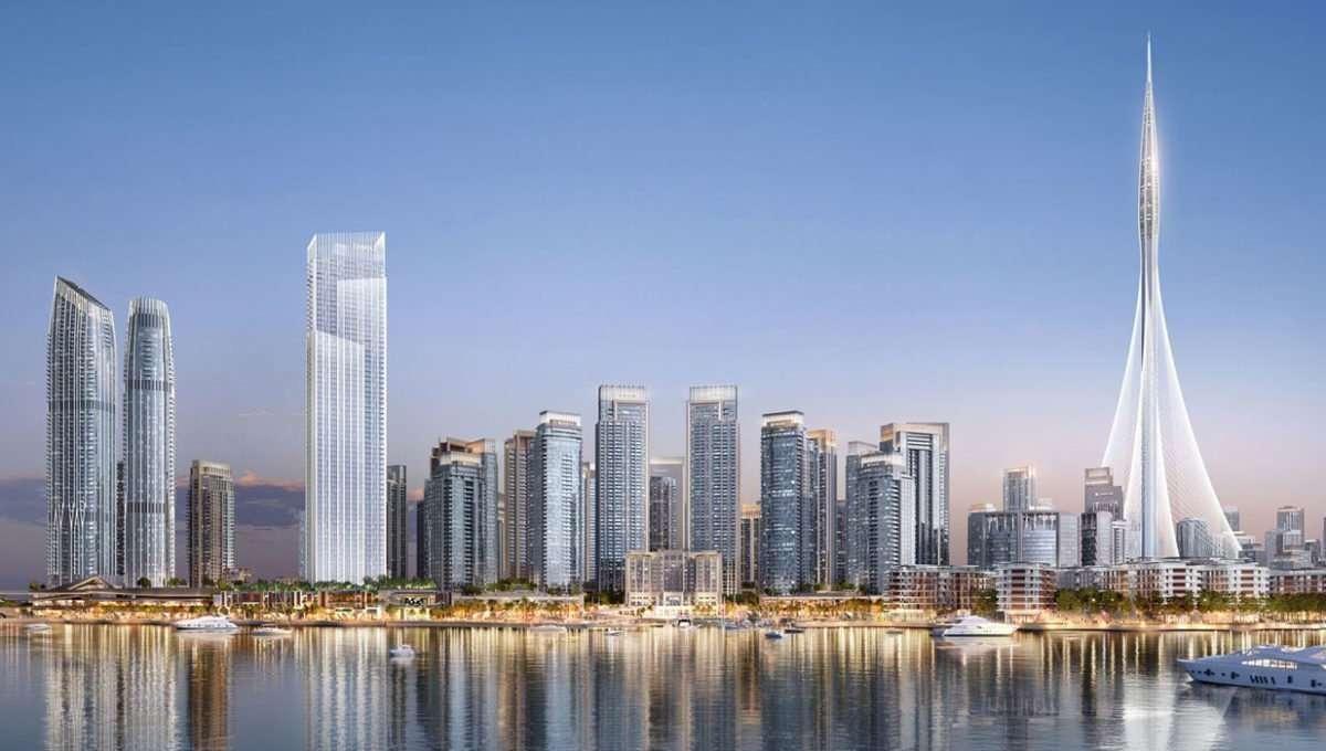 Ansicht Dubai Creek Harbour (vom Wasser aus)