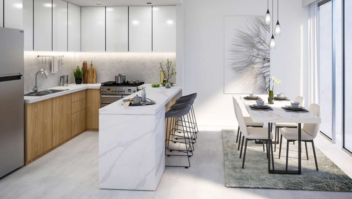 3-Bedroom Townhouse Küchenansicht La Rosa, Villanova (Dubai Properties)