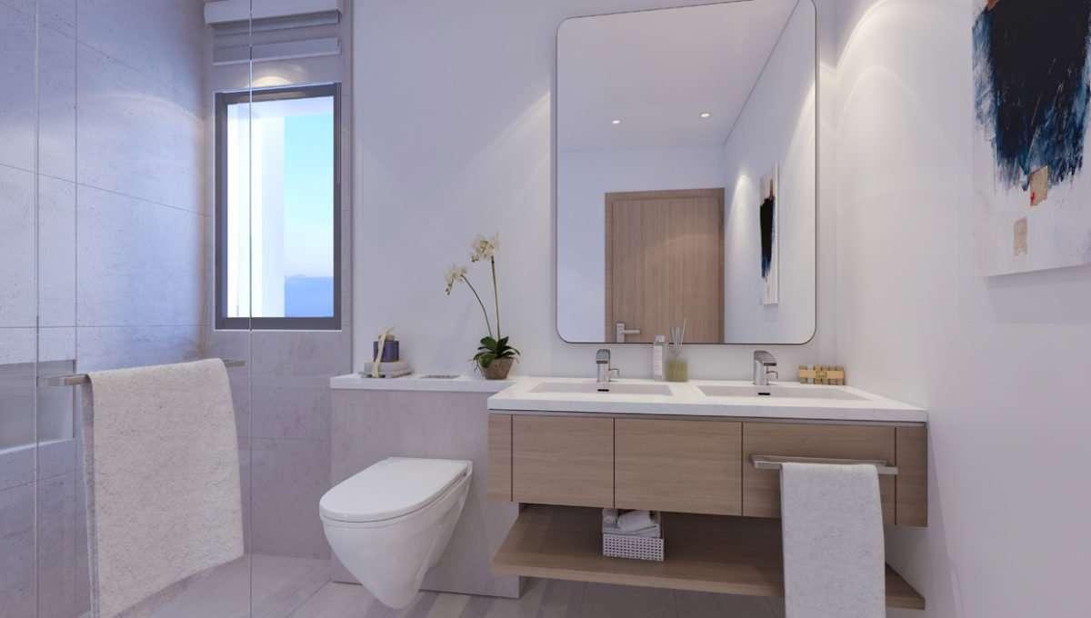 3-Bedroom Townhouse La Rosa Ansicht Bad (Dubai Properties)