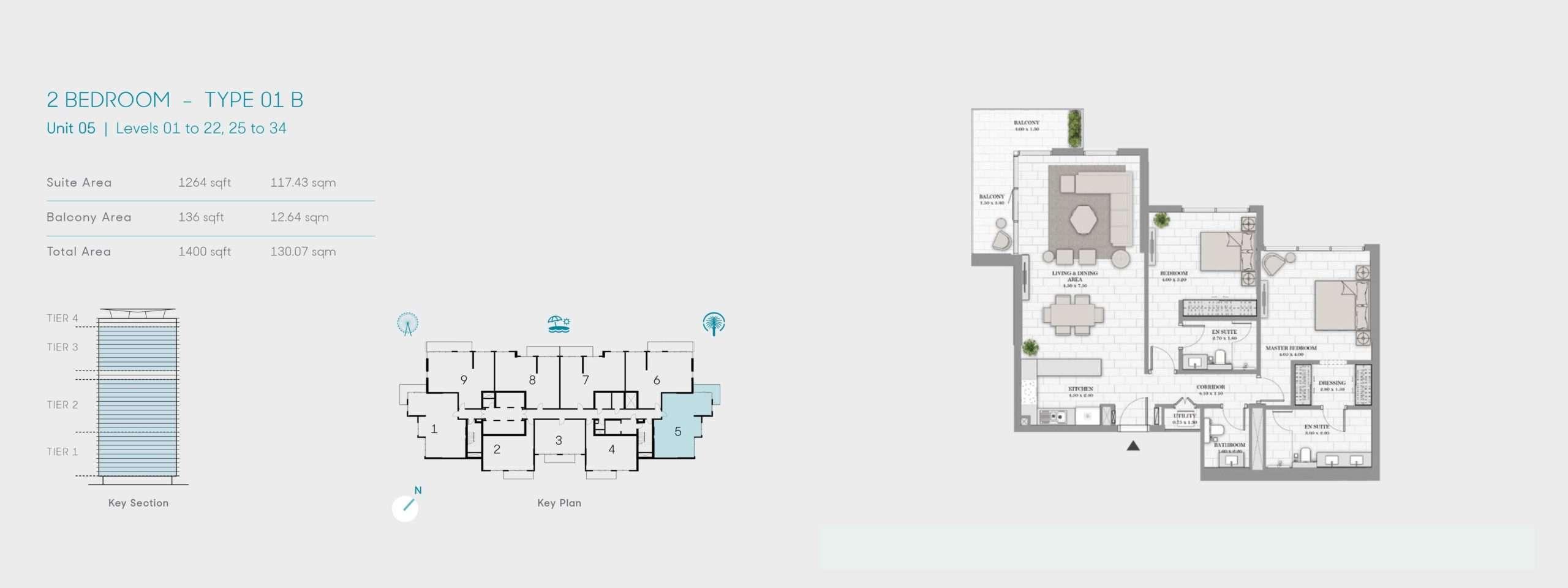 2-Bedroom Typ 01B