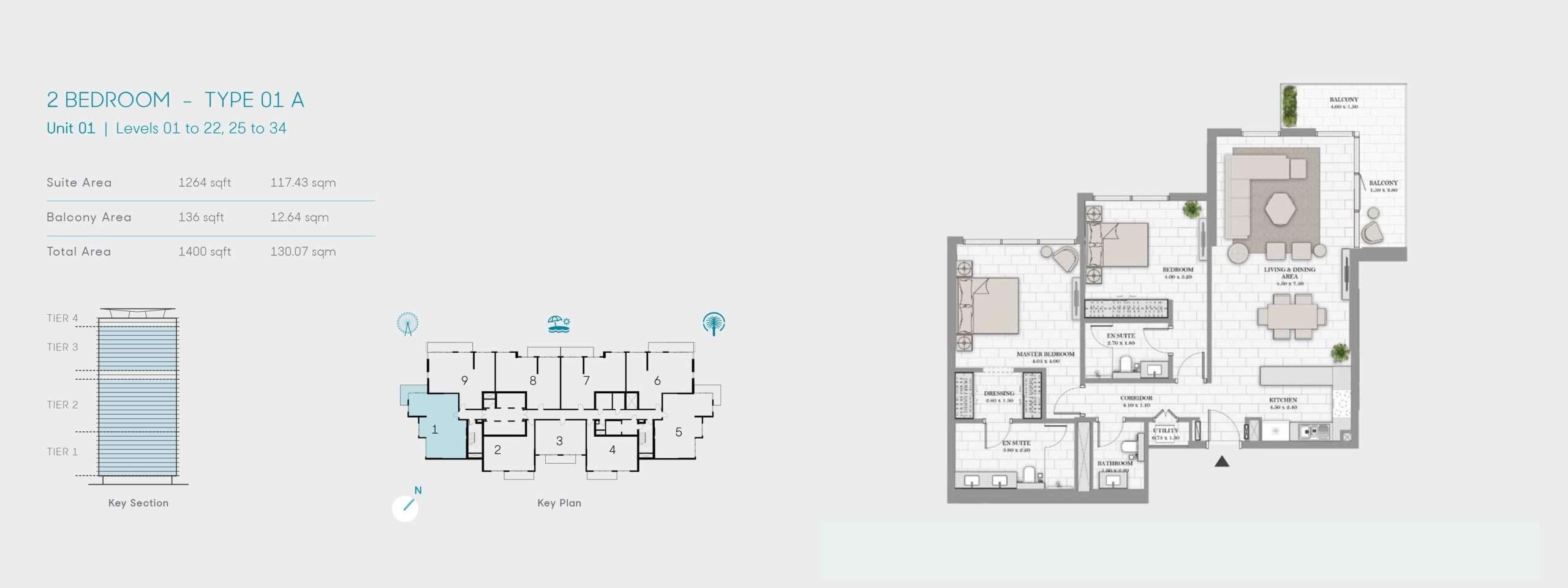 2-Bedroom Typ 01A