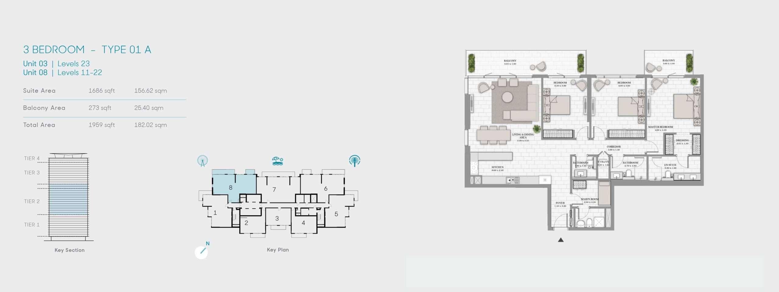 3-Bedroom Typ 01A