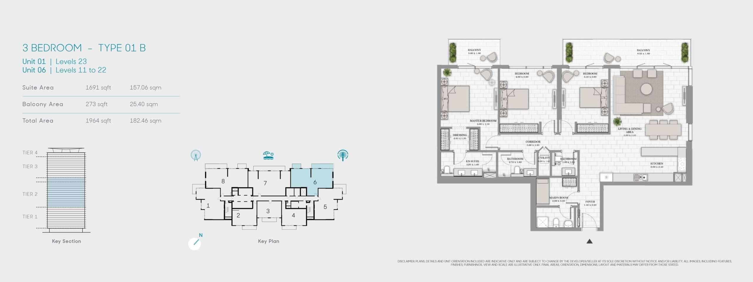 3-Bedroom Typ 01B