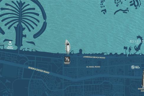 Dubai Port de la Mer Projekt Lageplan