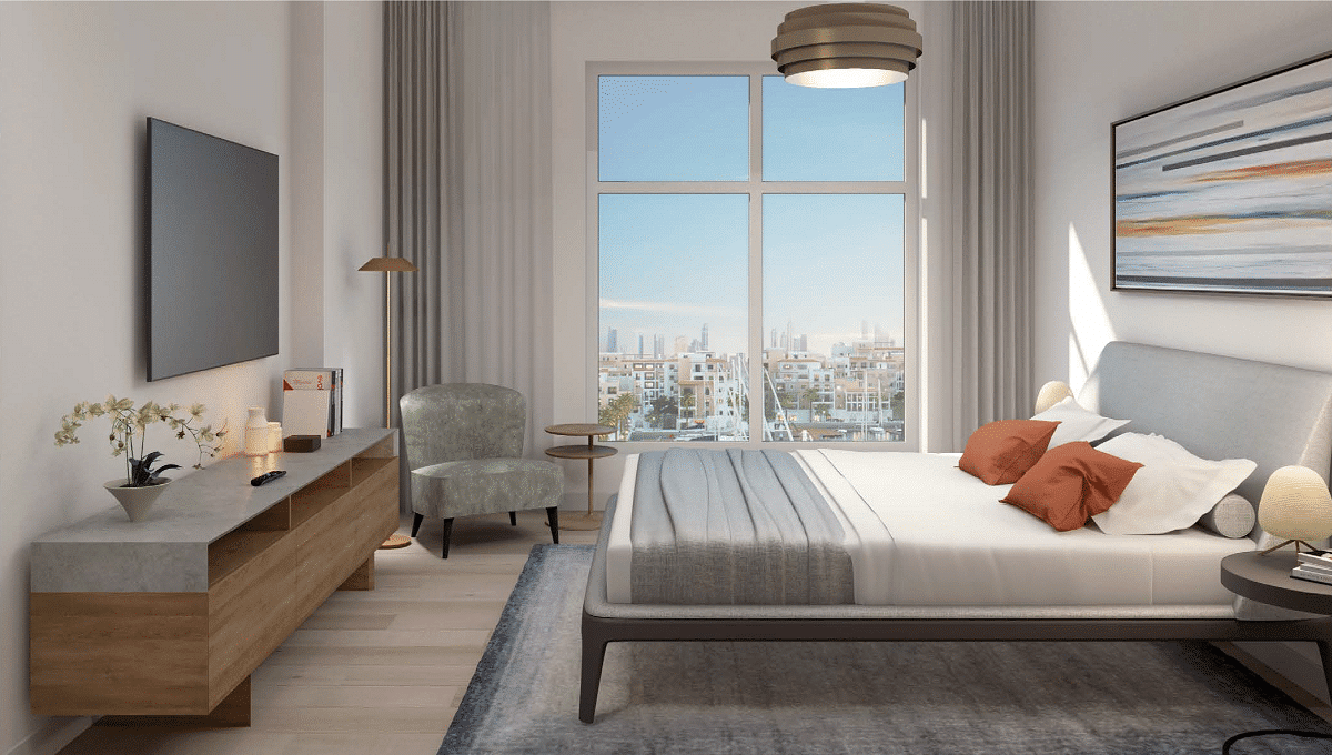 Dubai Port de la Mer Wohnung Apartment Interieur Schlafzimmer 2