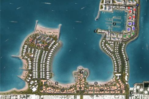 Dubai Port de la Mer Wohnung Apartments Übersichtsplan