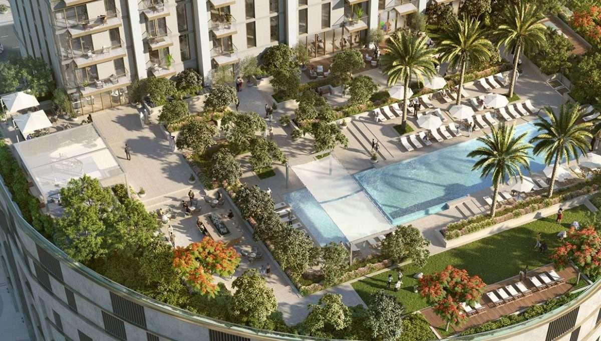 Apartmenthaus Dubai Burj Crown Pooldeck
