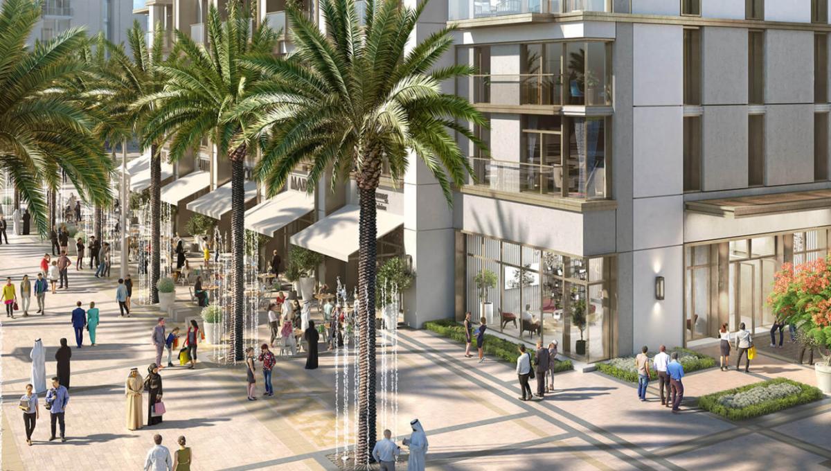 Burj Crown Apartment - Blick auf Straße