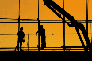 Bautätigkeiten - Erstellung von Immobilien in Dubai