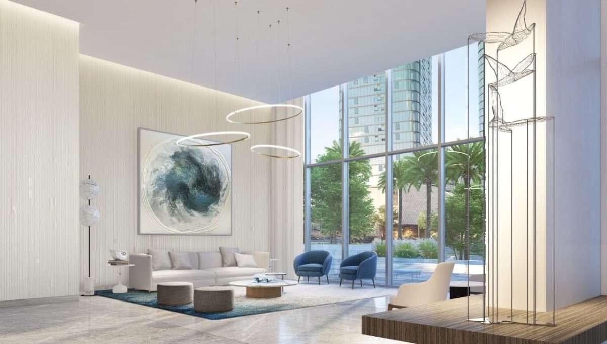 Dubai Beach Isle Immobilie Ansicht Lobby
