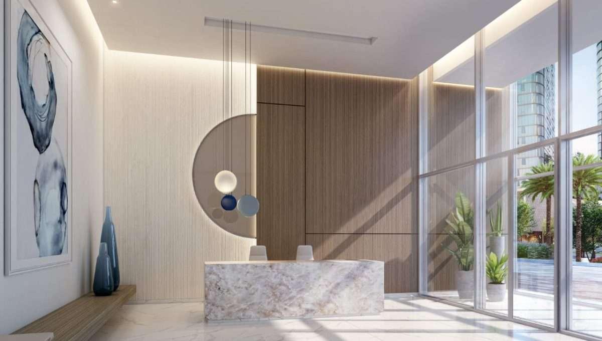 Dubai Beach Isle Immobilie Lobby