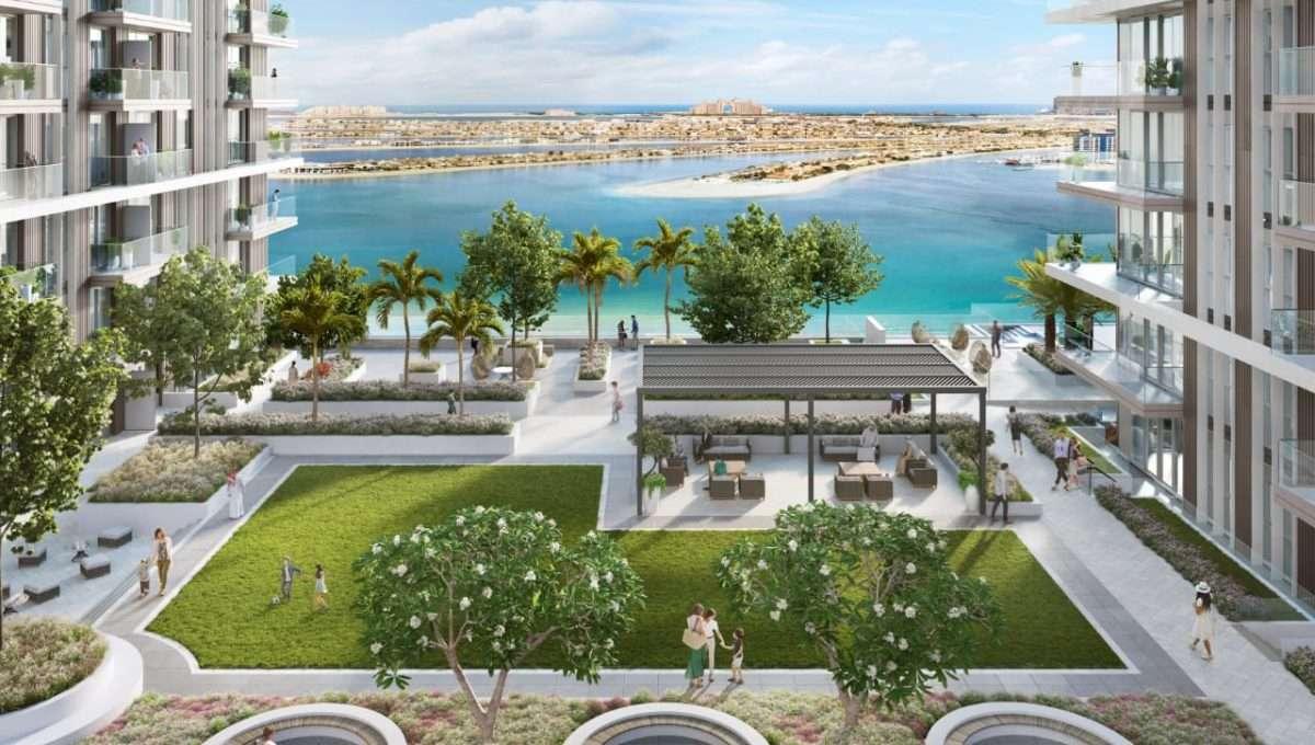 Dubai Beach Isle Immobilie Loungebereich