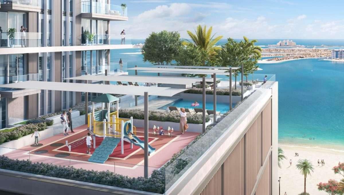 Dubai Beach Isle Kinderspielplatz und Kinderpool