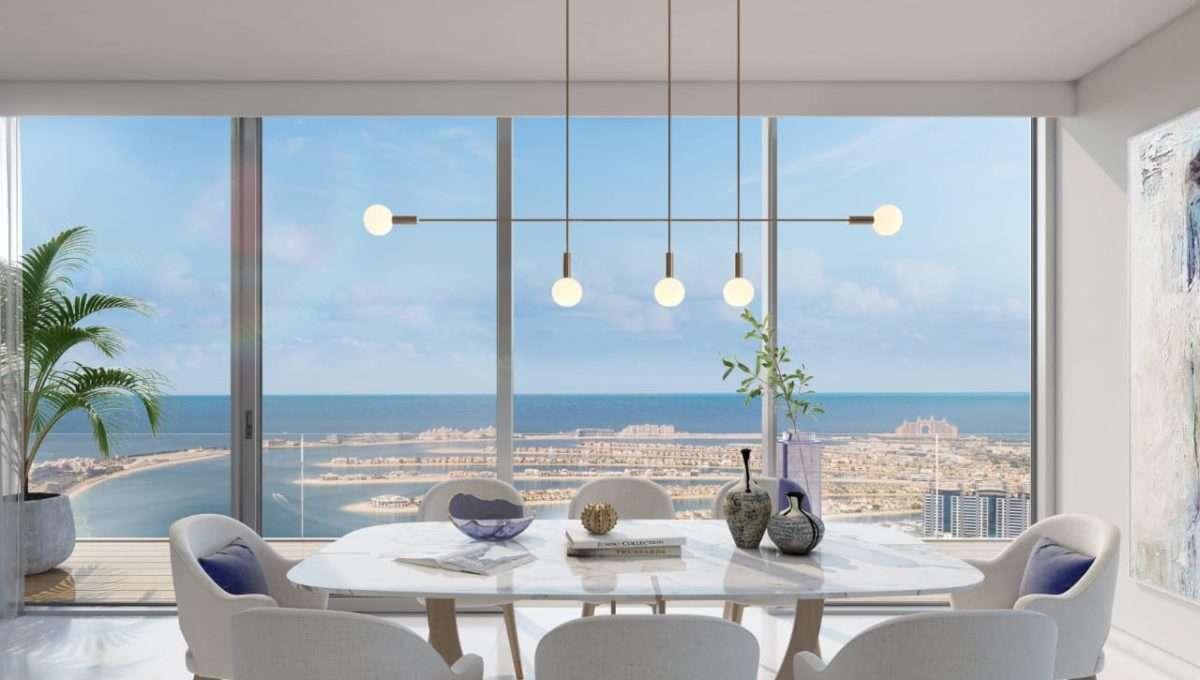Wohnung Dubai Beach Isle Interieur und Meerblick