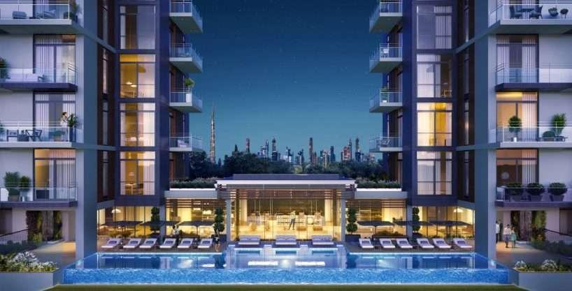 Pooldeck von Wilton Park Residences Dubai Meydan