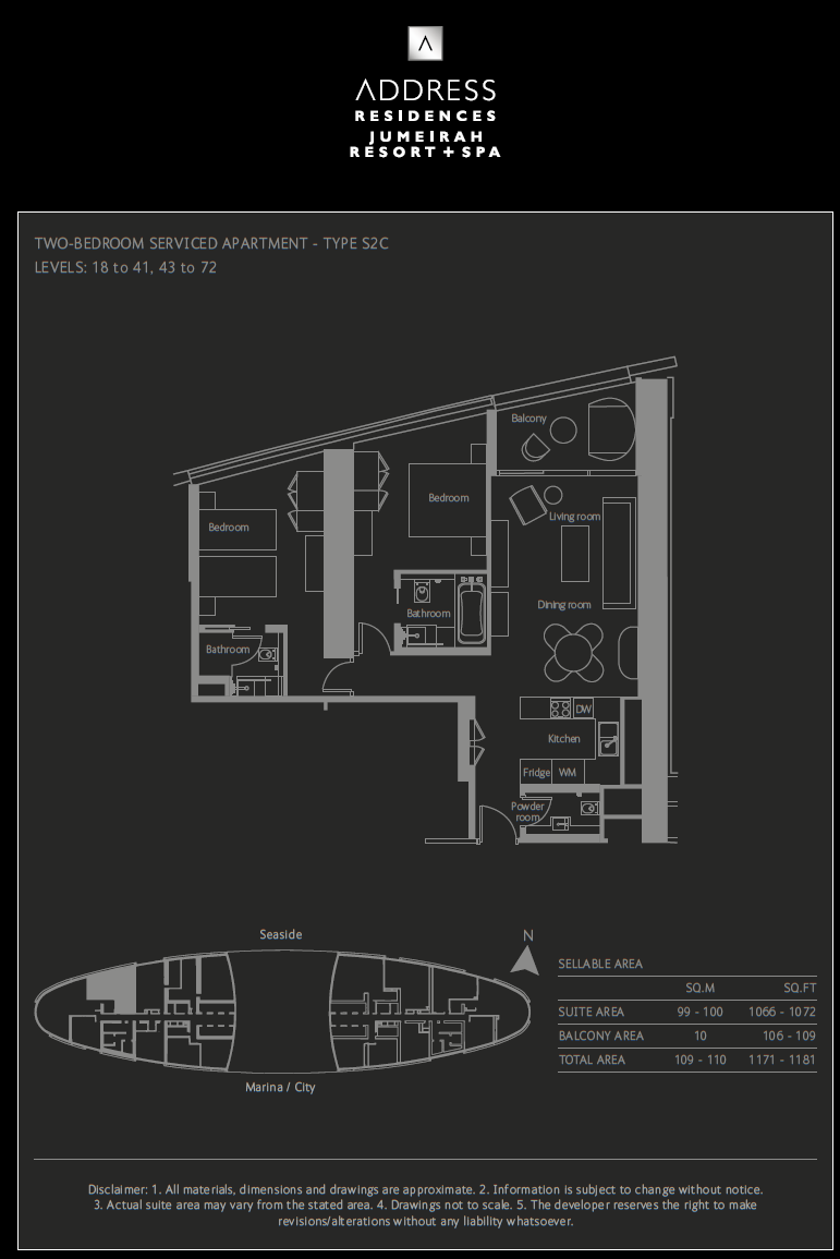 2-Bedroom Apartment Auslegung S2D