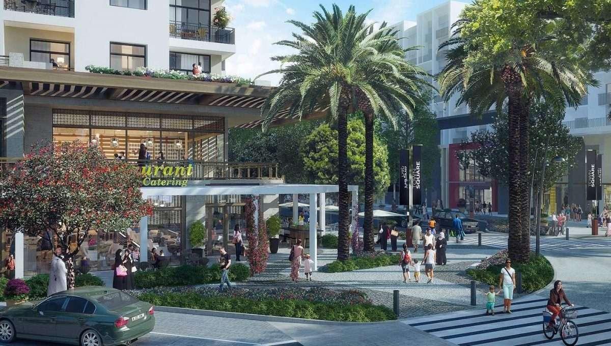 Townsquare Dubai Immobilie Außenansicht