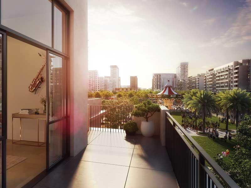 Townsquare Dubai Immobilie Balkon