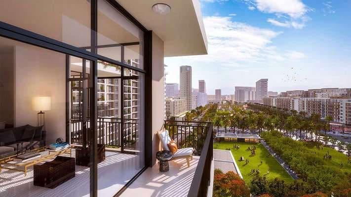 Townsquare Dubai Immobilie Balkon3