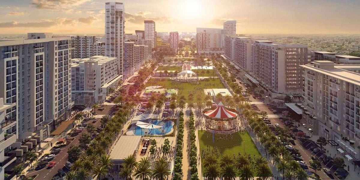 Townsquare Dubai Immobilie Blick auf Park