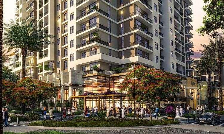 Townsquare Dubai Immobilie Rawda II Apartments außen