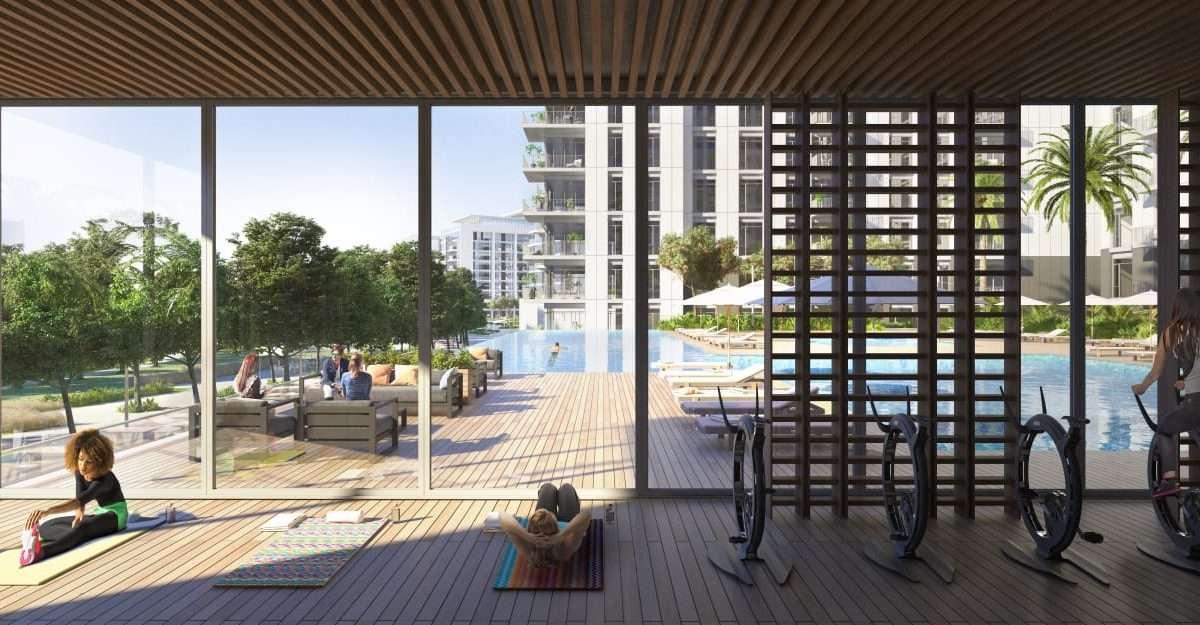 Dubai Hills Fitness und Poolbereich