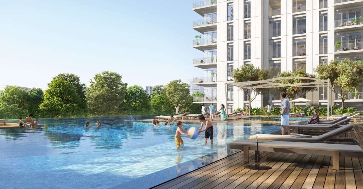 Dubai Hills Green Square Immobilie Poolbereich