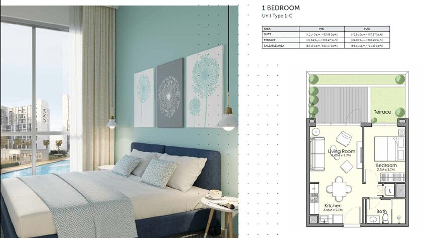 1-Bedroom Apartment Typ 1-C