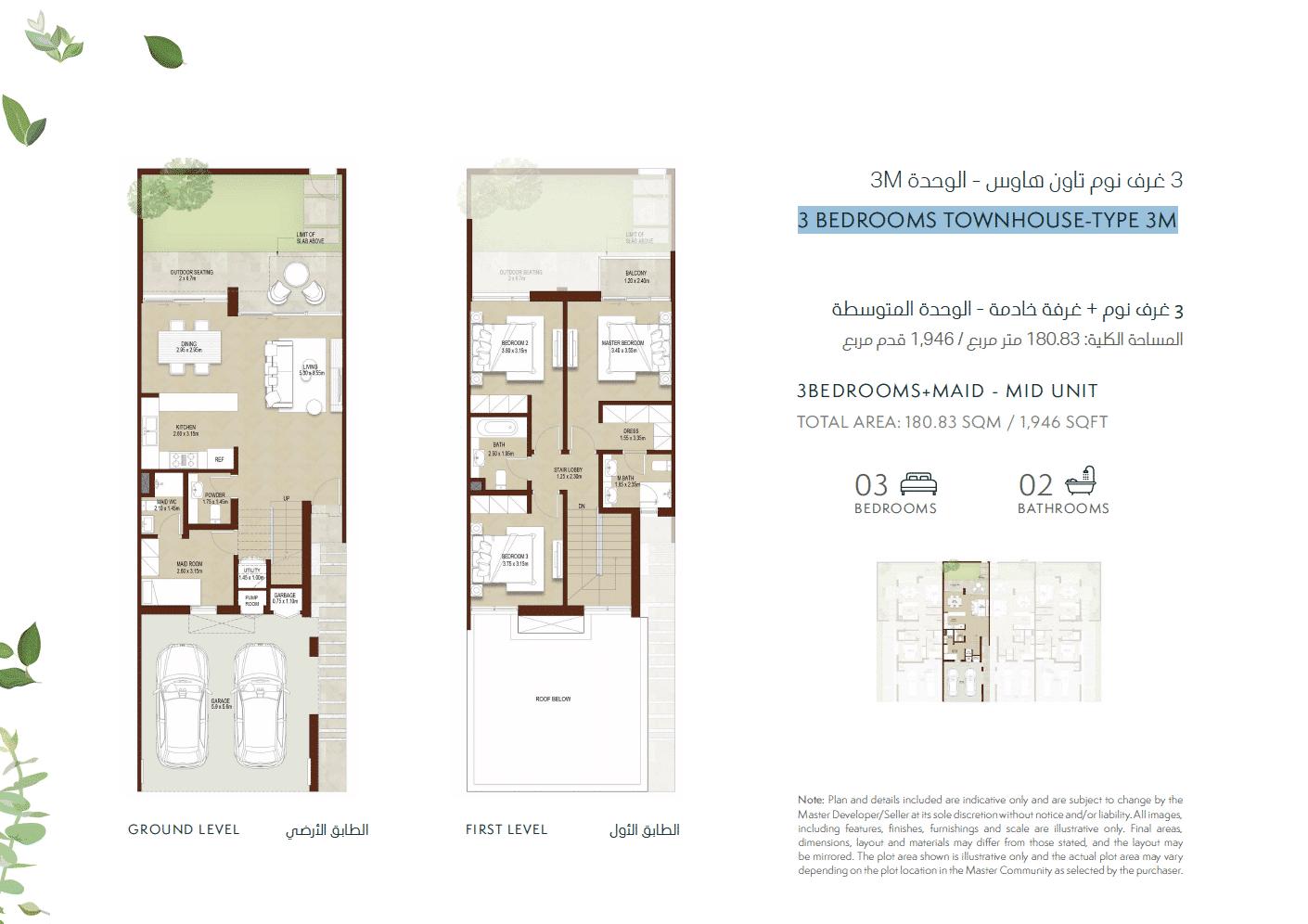 3-Bedroom Townhouse 3 TYPE 3M