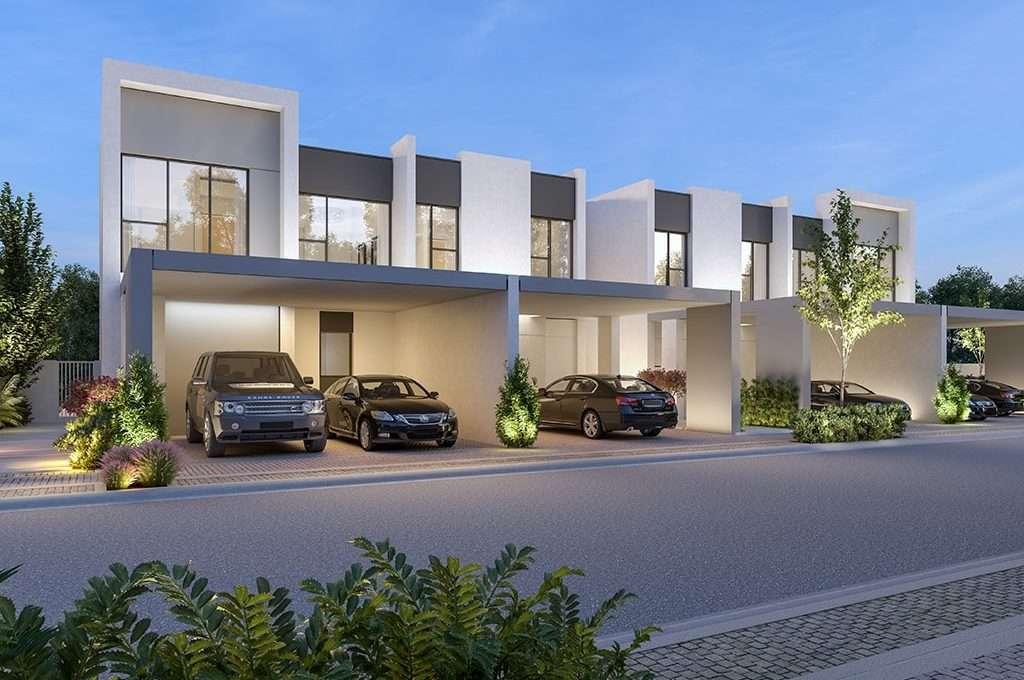 Dubai Immobilie La Rosa III Ansicht Strassenseite