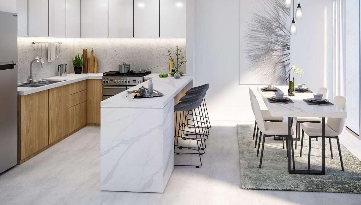 Dubai Properties La Rosa Townhouse Essbereich Innenansicht