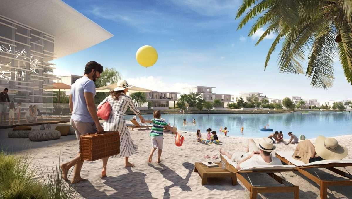 Dubai Tilal al Ghaf Lagune beach