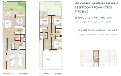 3-Bedroom Townhouse 3M-2