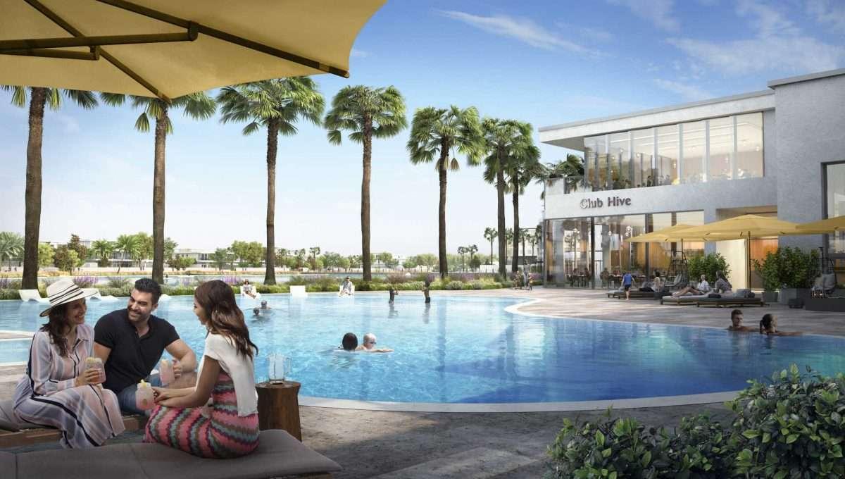 Tilal Al Ghaf Immobilien Community Poolbereich