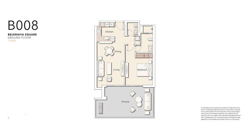 Belgravia Square - Mieszkania 2-pokojowe typu B008