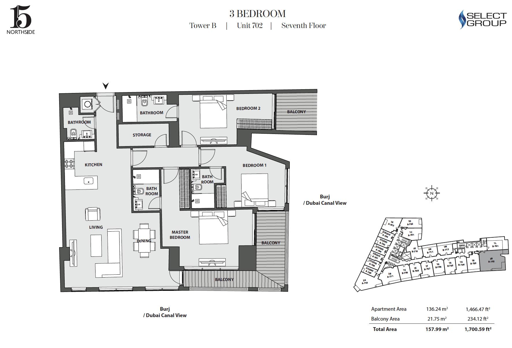 3-Bedroom Apartment Typ 3B