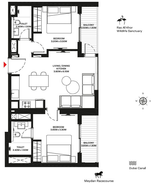 2-Bedroom Type A