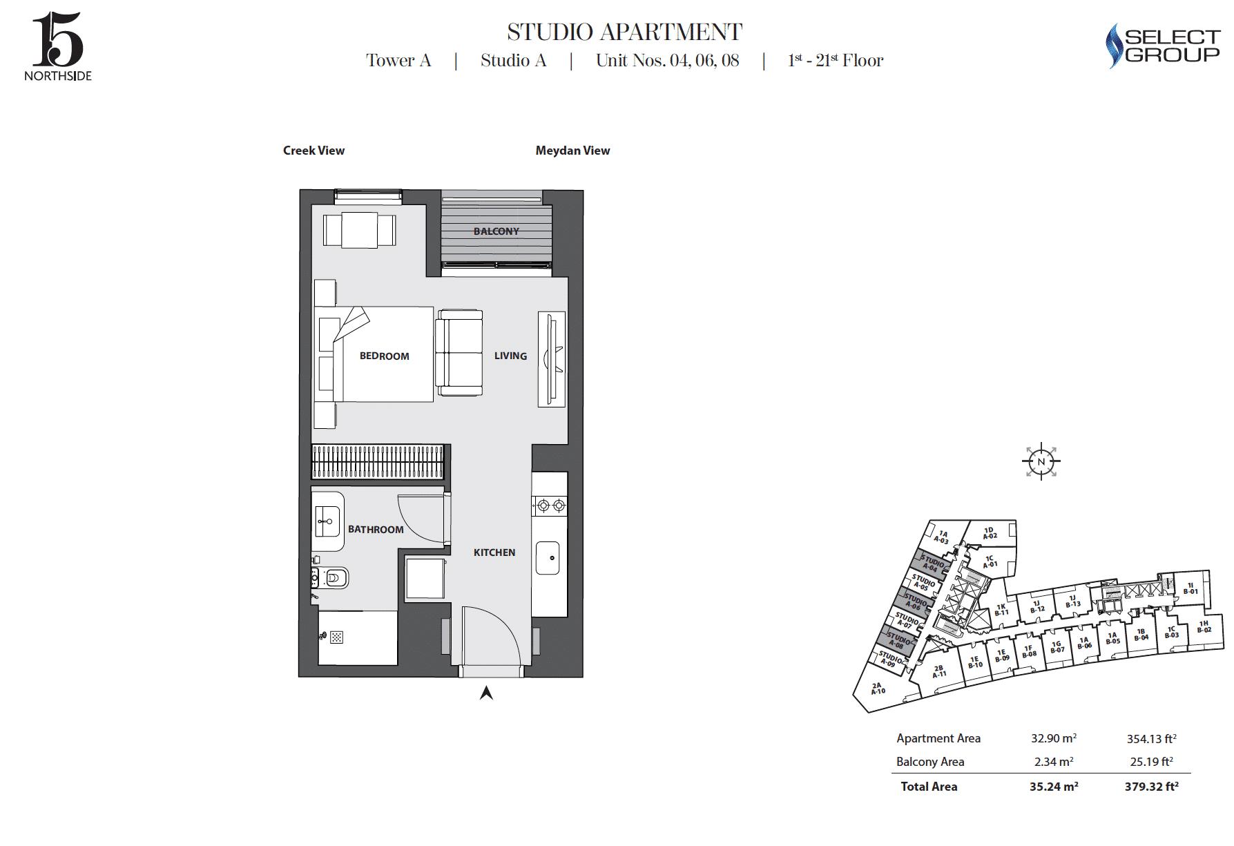 Studio Apartment Typ SA