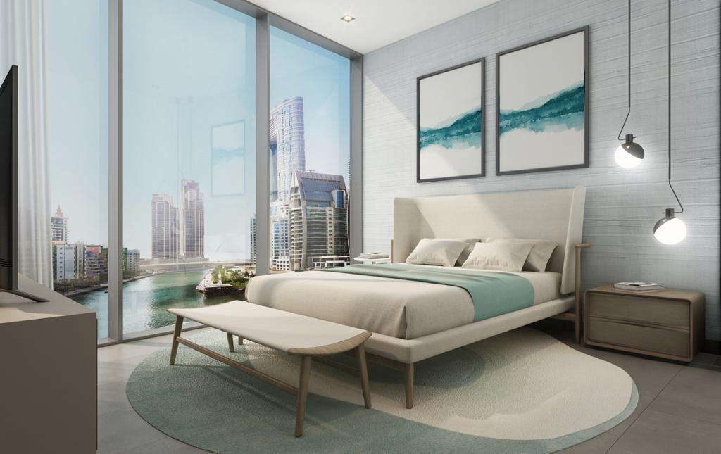 Dubai Marina Apartment Schlafzimmer