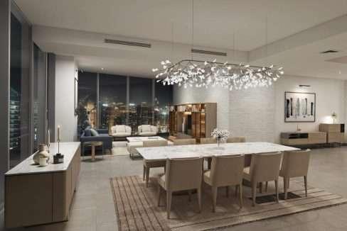 Dubai Marina Immobilie Stella Maris Apartment Wohnzimmer