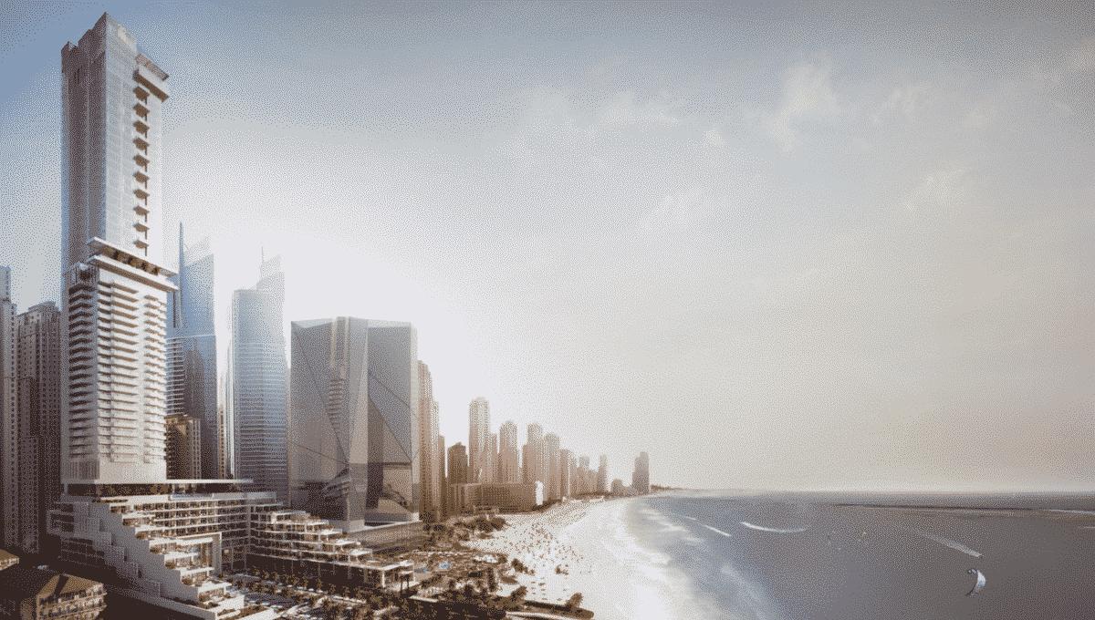 Dubai FIVE JBR Hotelapartments mit Mietgarantie Aussenansicht