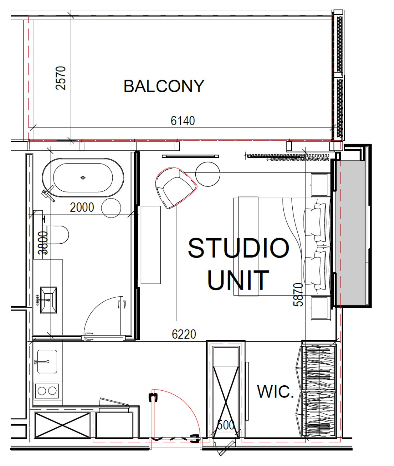 Studio (Stockwerke 12-30)
