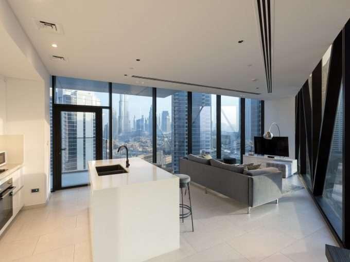 Koch- und Wohnbereich in Marquise Square Immobilie Dubai